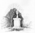 A sketch of the tomb over a hundred years ago