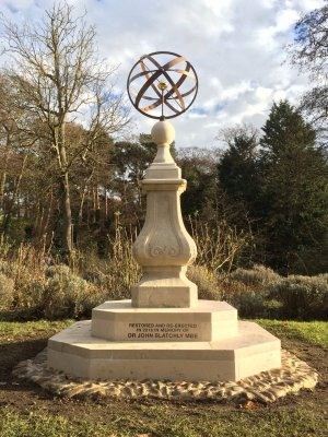 The Armillary Sphere Sundial unveiled in January 2017