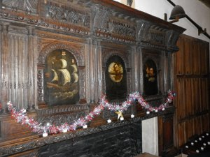 The Eldred Overmantel (dressed for Christmas)