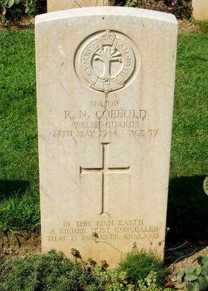 His grave in the Cassino War cemetery
