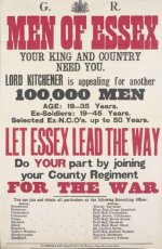 Men of Essex' appeal by Lord Kitchener (#733 on the family tree)