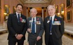 John Gregson (centre) with Willie Apiata VC (left) and Alf Lowe GC, members of the Victoria Cross and George Cross Association.