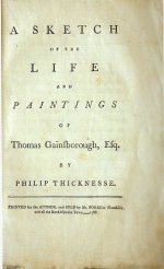 Thicknesse' biography of Gainsborough