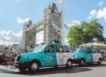 Two PureGym cabs at Tower Bridge