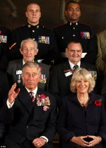 John with the Duke and Duchess of Cornwall at the VC & GC annual reunion in 2010