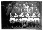 Cliff Brewery FC 1926/27.  Arthur with ball and Cleere Cutting back left